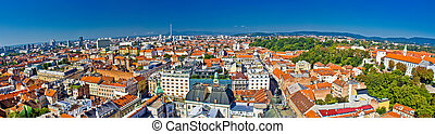 City of Zagreb panoramic view
