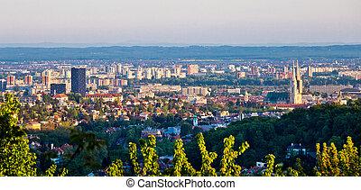 City of Zagreb panoramic view