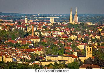 City of Zagreb skyline view