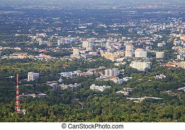 city on bird eye view