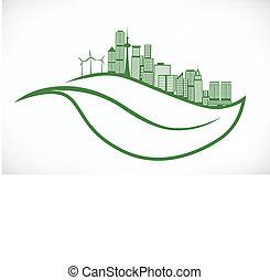 city  on leaf