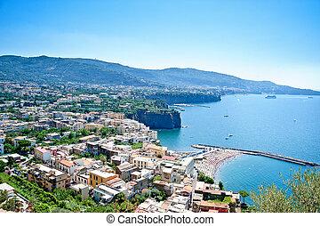 City on the Coastline of Amalfi