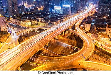 city overpass at night