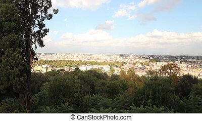 overview time-lapse of the city from the Janiculum Hill in Rome