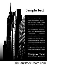 City vector background page layout