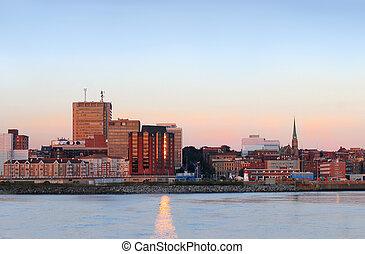 City panorama of Saint John, New Brunswick - City view of ...