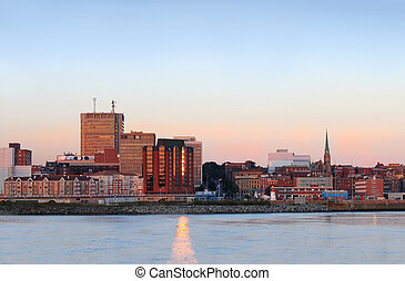 City panorama of Saint John, New Brunswick - City view of...