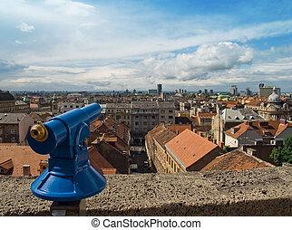 City panorama of Zagreb
