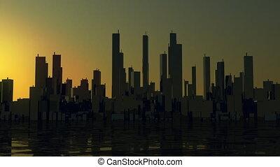 City panorama Timelapse