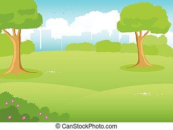 City Parks Clipart