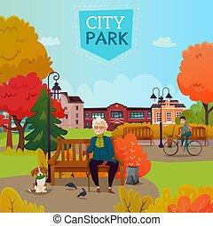 City Park Illustration