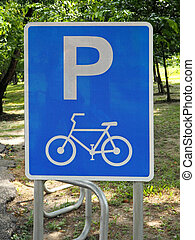 City Park's Bicycle Parking Sign