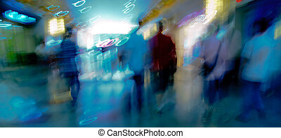 city people on business walking street