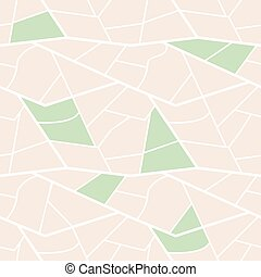 city plan with green parks - seamless background