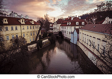 City Prague in Czech Republic. Old mill