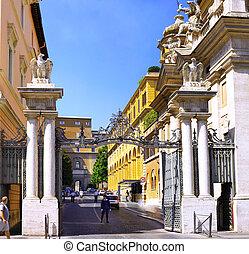 city., principal, vaticano, entrada