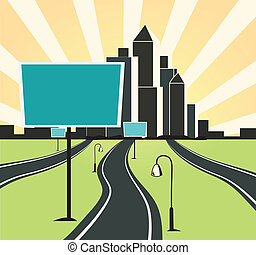 city ??road background