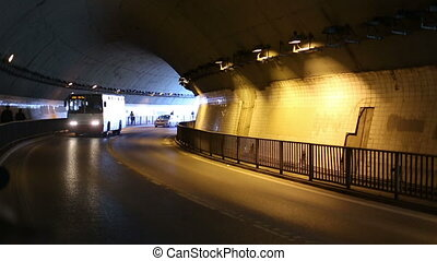 city road tunnel time lapse