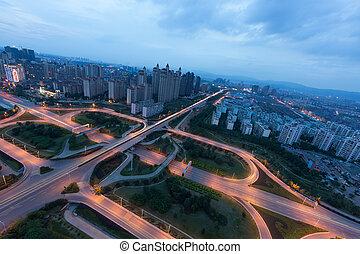 City Scape of nanchang city at china.