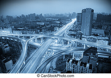 City Scape of the hangzhong china.