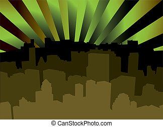 city scape shady