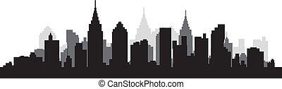 City Scape Silhouette