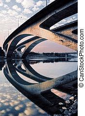 city scenery of bridge