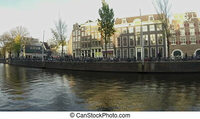 City scenic Amsterdam Netherlands - City scenic from...
