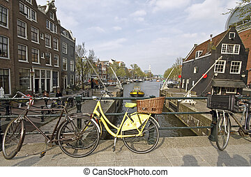 City scenic from Amsterdam Netherlands