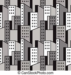 city - abstract seamless pattern , vector design element