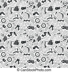 city - seamless pattern