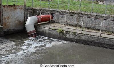 city sewage flow pipe
