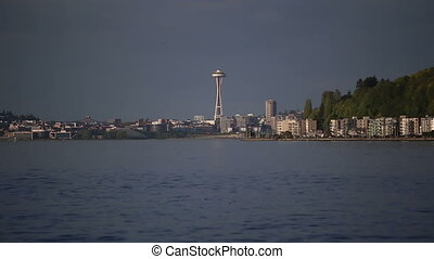 City shot of Seattle Washington view from across the water...
