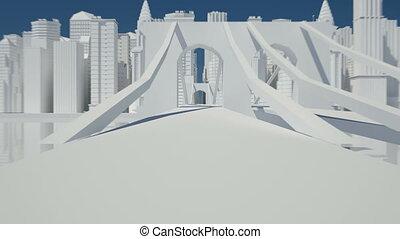 city sketch white