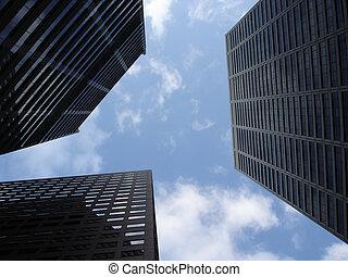 City Sky - A Patch of Blue Sky between Skyscrapers