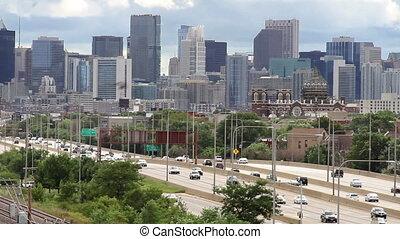 City Skyline and Traffic