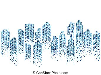 City skyline backgroud illustration