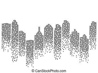 City skyline backgroud illustration