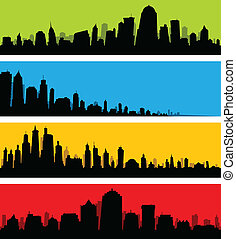 City Skyline Banners