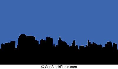 City skyline - Illustration of an urban skyline