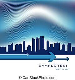City skyline design.