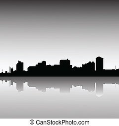 city-skyline-dusk - Manila Philippines skyline, view from...