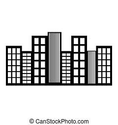 city skyline icon image