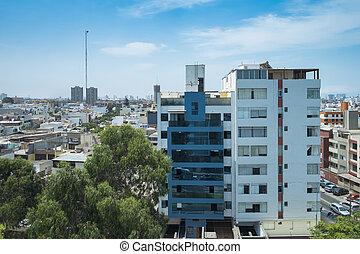 City Skyline in Lima, Peru
