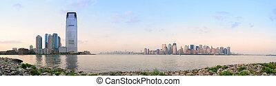 City skyline panorama