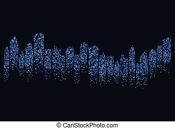 city skyline vector illustration design
