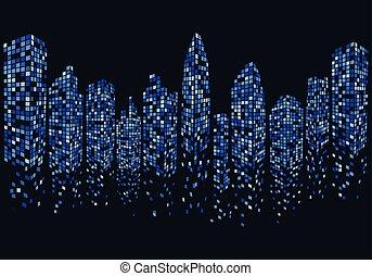 city skyline vector illustration design