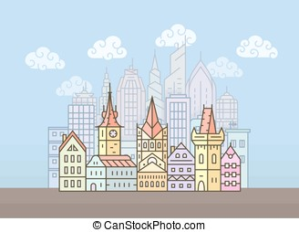 City skyline vector illustration