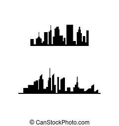 city skyline vector silhouette