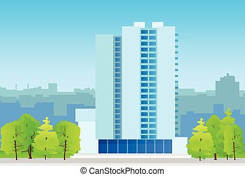 city skylines business office building, real estate